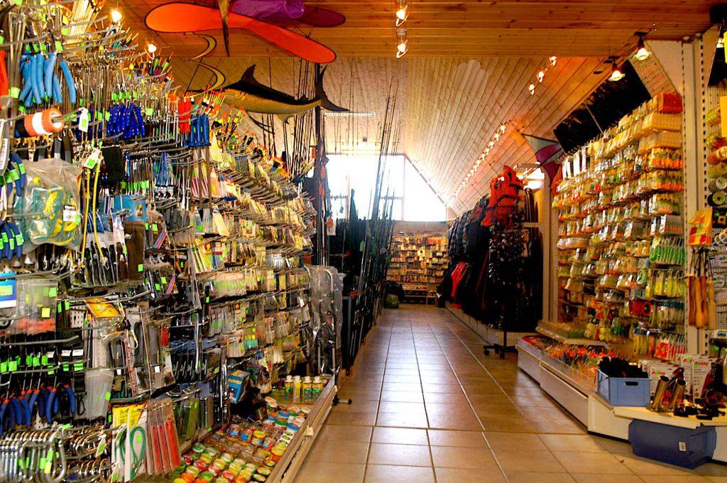 Lystfiskerbutik på Langeland