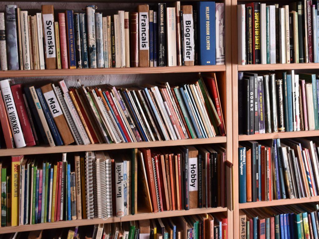 Bøger i Bazaren i Lundeborg