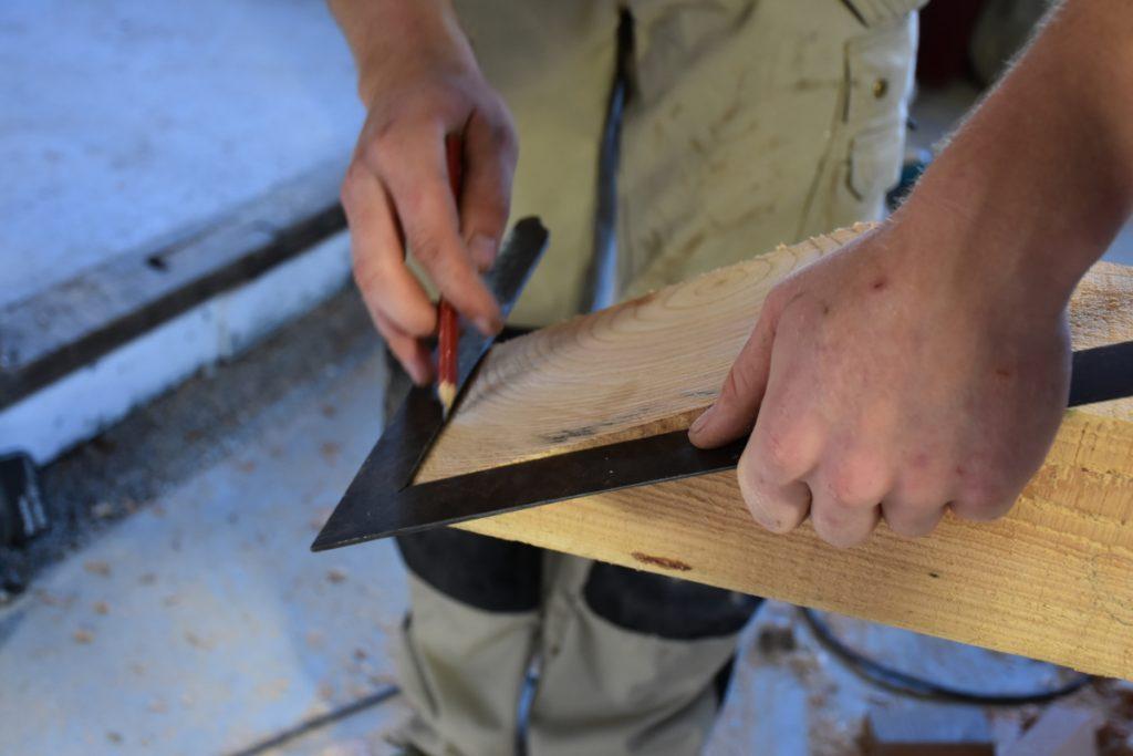 Tømmer fra Ryslinge Savværk