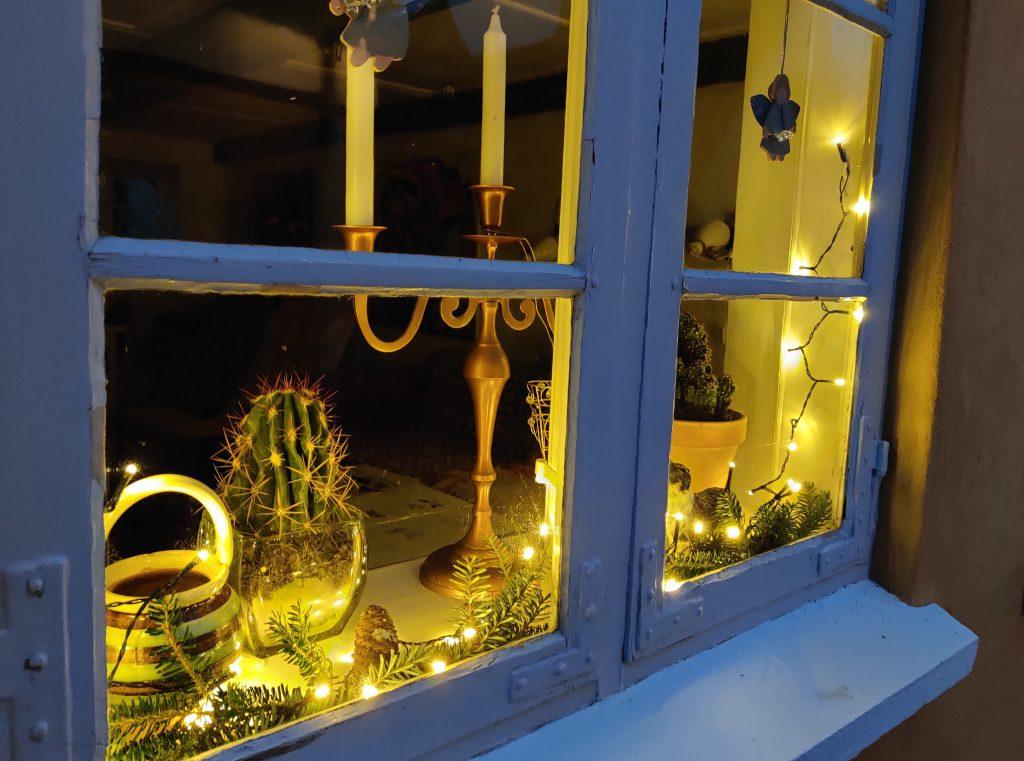 Lys i vinduet i Ærøskøbing
