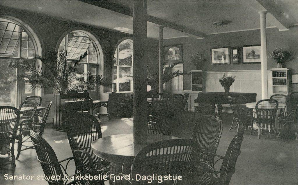 Dagligstue på Nakkebølle Sanatorium