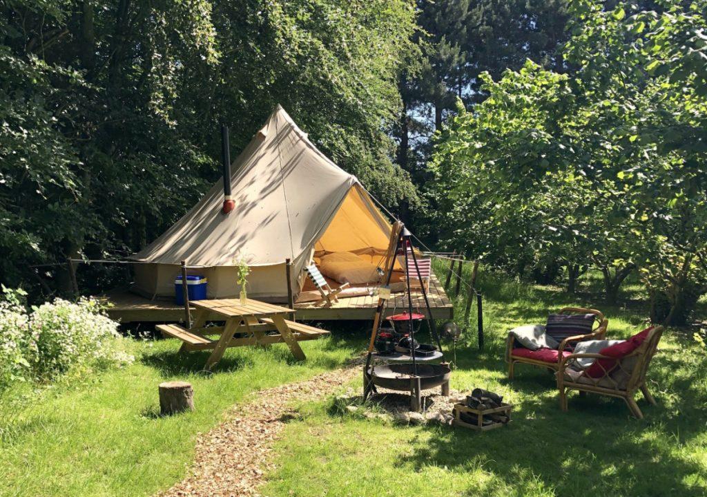 Glamping på Tiki Camp
