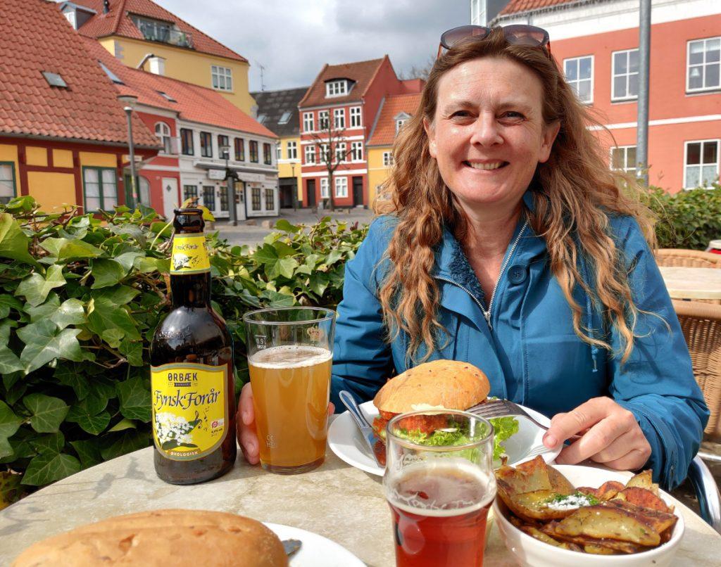Frokost på kærestetur i Svendborg