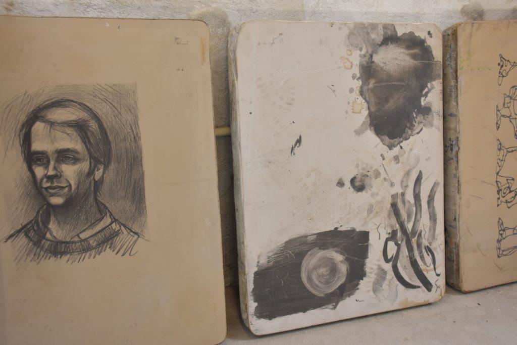 Kalksten til litografitryk